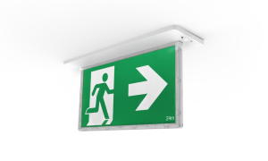 emergency recessed exit light